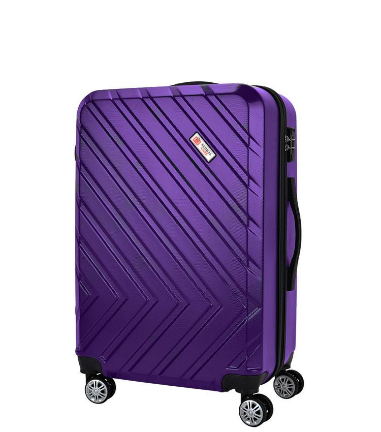 Средний чемодан Global Case GC031-АF078-24 - фиолетовый
