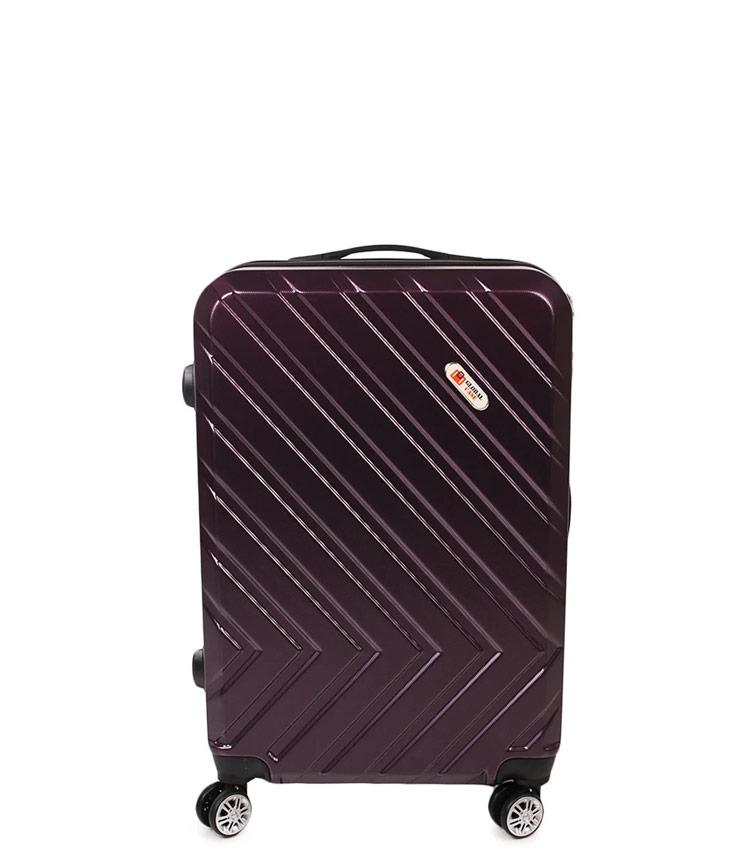 Малый чемодан Global Case GC031-АF088-20 - тёмно фиолетовый