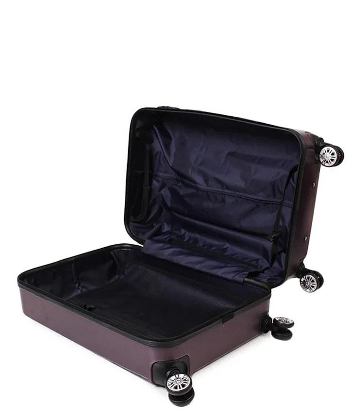 Средний чемодан Global Case GC031-АF088-24 - тёмно фиолетовый