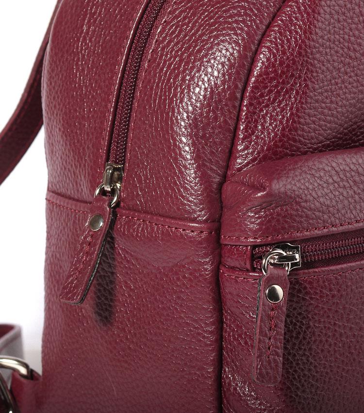 Женский кожаный рюкзак Galanteya 41607 red