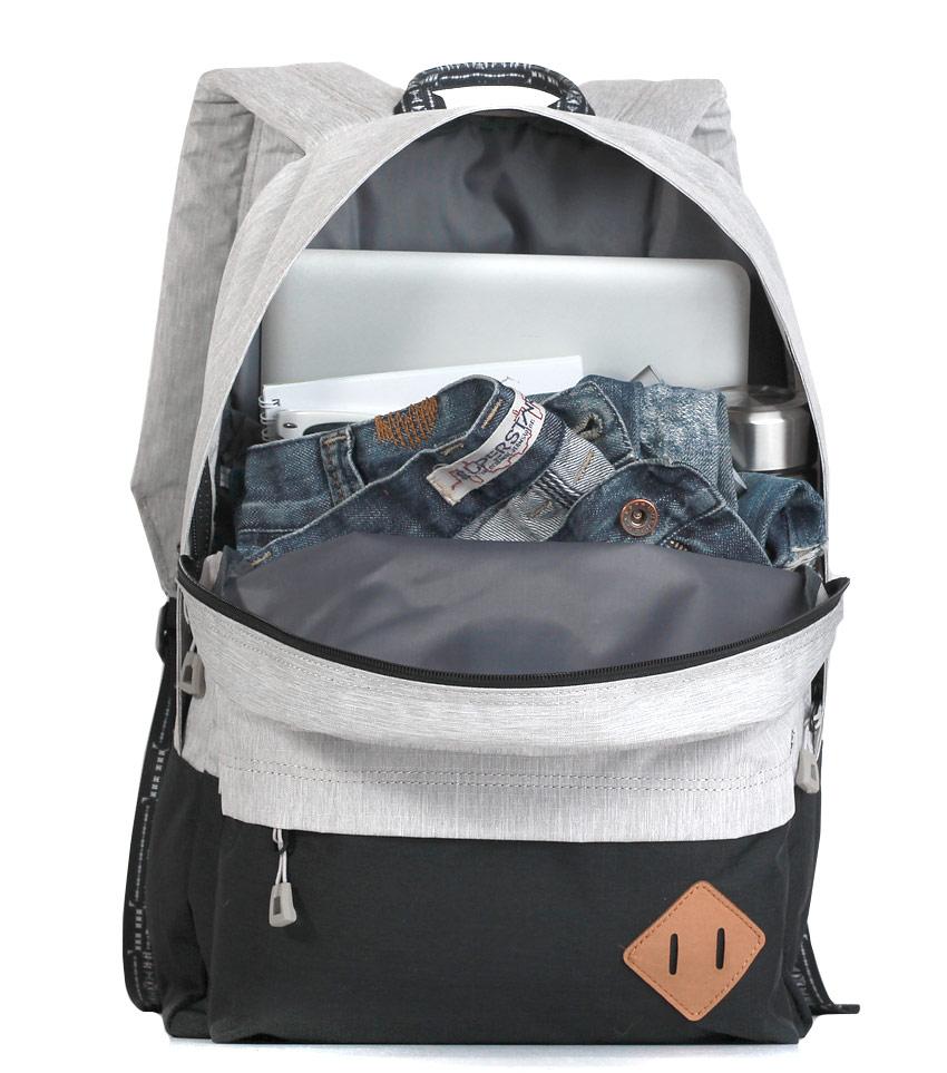 Рюкзак Just Backpack Vega light-grey-black