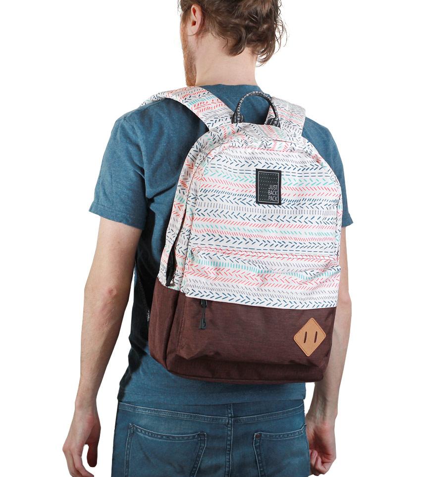 Рюкзак Just Backpack Vega stripes-brown