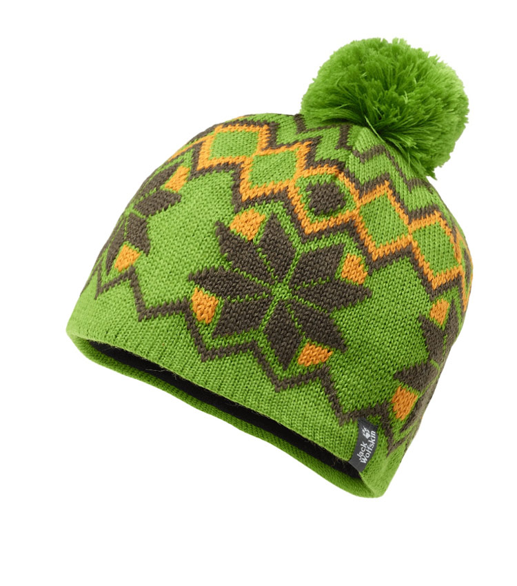 Детская шапка Jack Wolfskin NORDIC POMPOM green