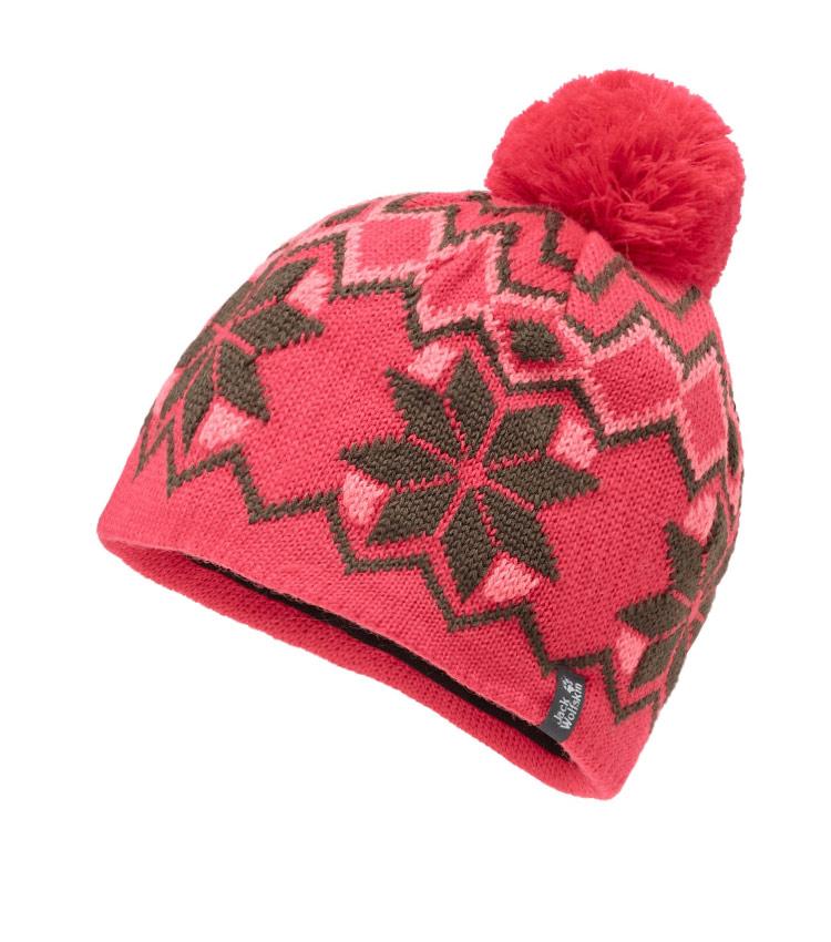 Детская шапка Jack Wolfskin NORDIC POMPOM red
