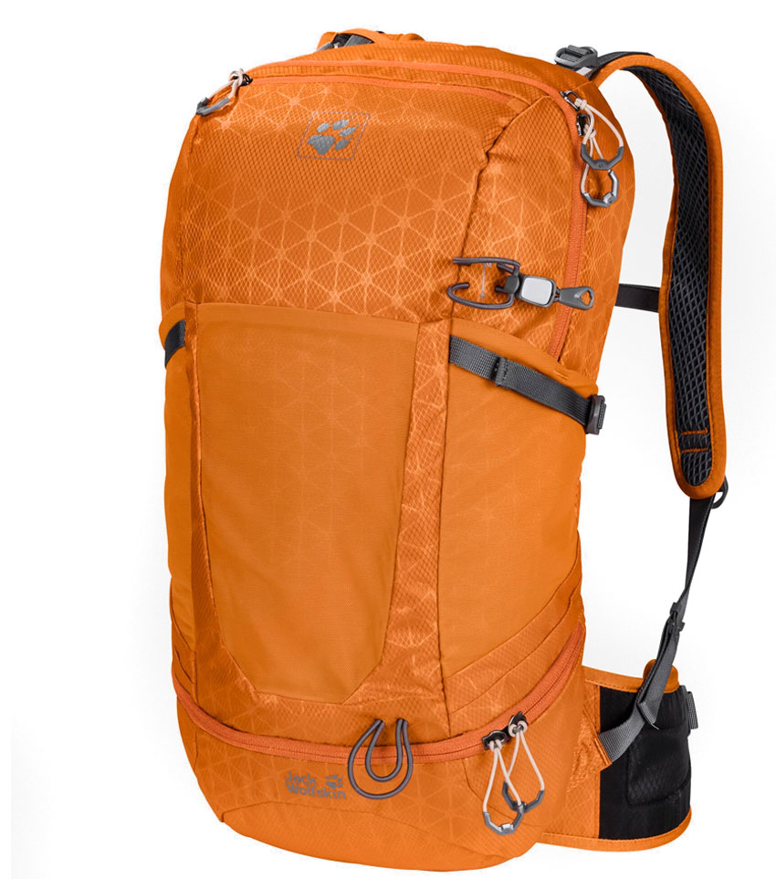 Рюкзак Jack Wolfskin Kingston 22 Orange Grid