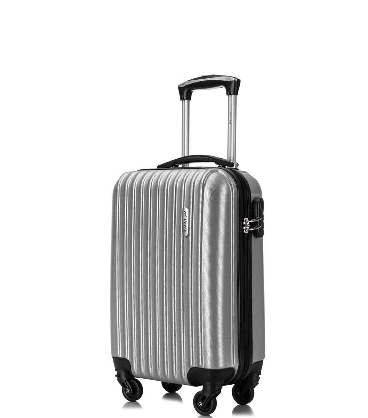 Малый чемодан спиннер Lcase Krabi silver (54 см)