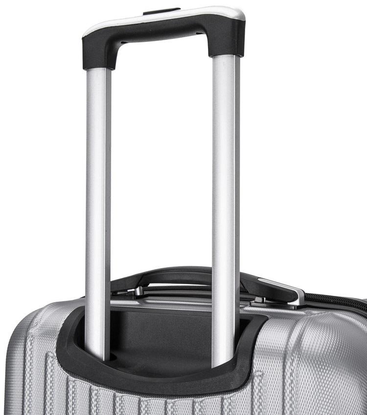 Средний чемодан спиннер Lcase Krabi silver (63 см)