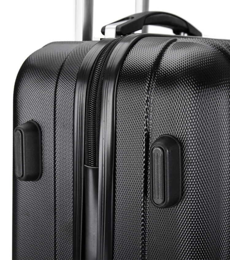 Средний чемодан спиннер Lcase Krabi black (63 см)