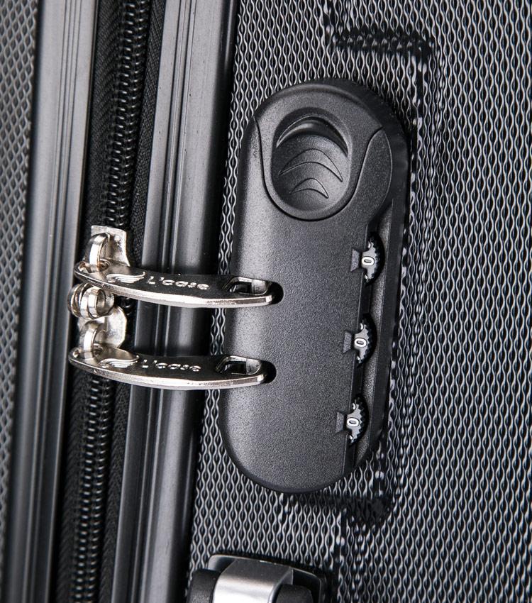Малый чемодан спиннер Lcase Krabi black (54 см)