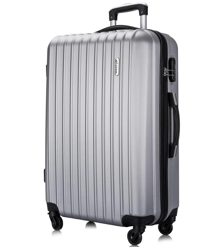 Большой чемодан спиннер Lcase Krabi silver (72 см)