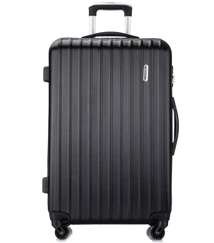 Большой чемодан спиннер Lcase Krabi black (72 см)