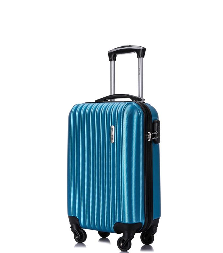 Малый чемодан спиннер Lcase Krabi blue (54 см)