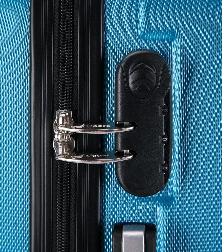 Средний чемодан спиннер Lcase Krabi blue (63 см)
