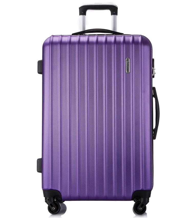 Большой чемодан спиннер Lcase Krabi purple (72 см)