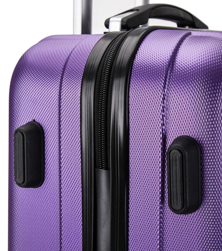 Средний чемодан спиннер L-case Krabi purple (63 см)