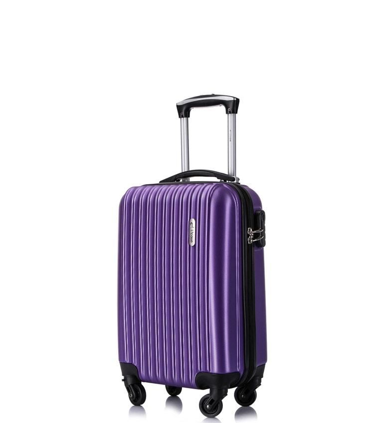 Малый чемодан спиннер Lcase Krabi purple (53 см)