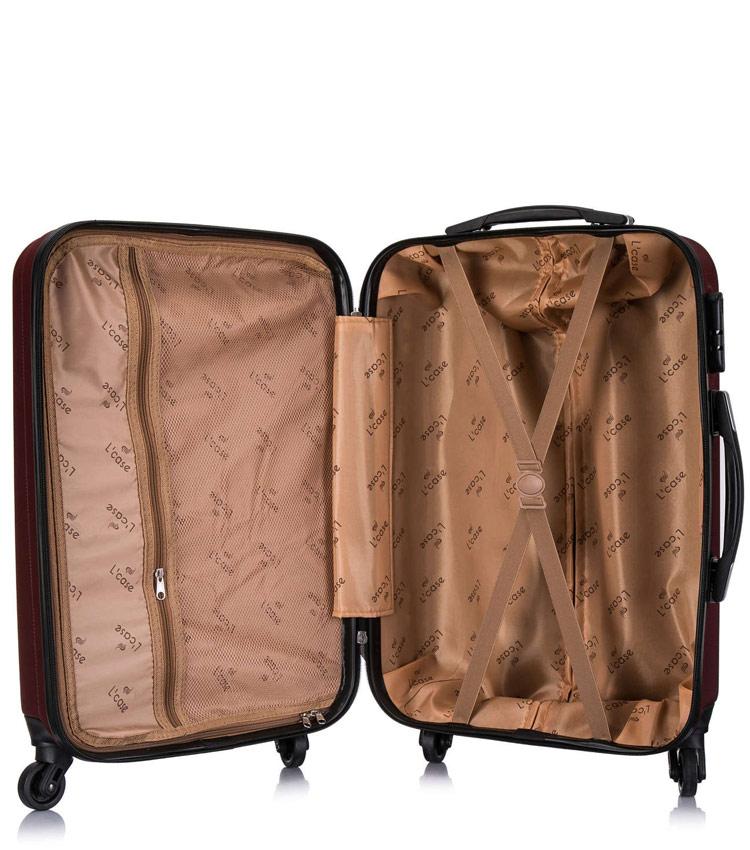 Большой чемодан спиннер Lcase Krabi Wine (72 см)