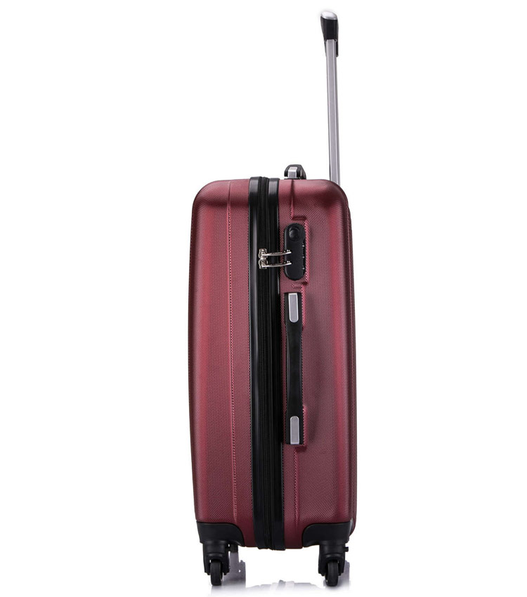 Средний чемодан спиннер L-case Krabi wine (63 см)