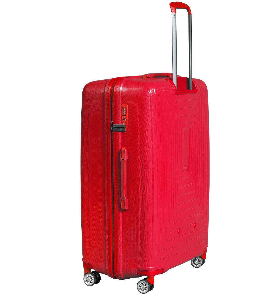 Средний чемодан L-case Moscow red