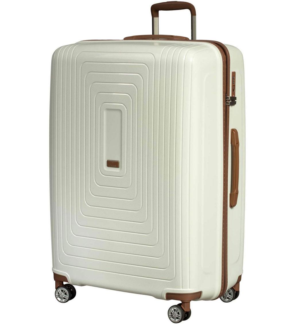 Большой чемодан L-case Moscow white