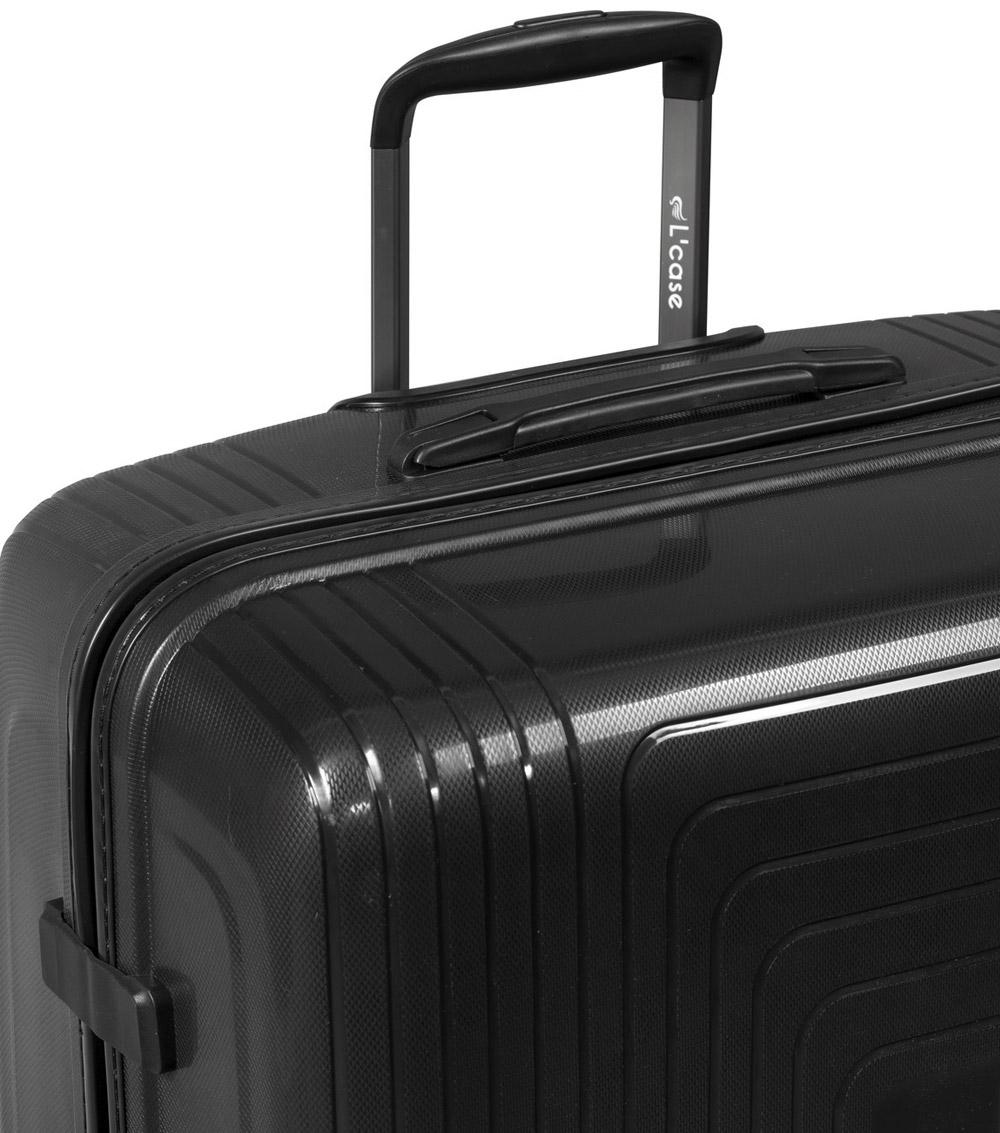 Малый чемодан L-case Moscow black ~ручная кладь~