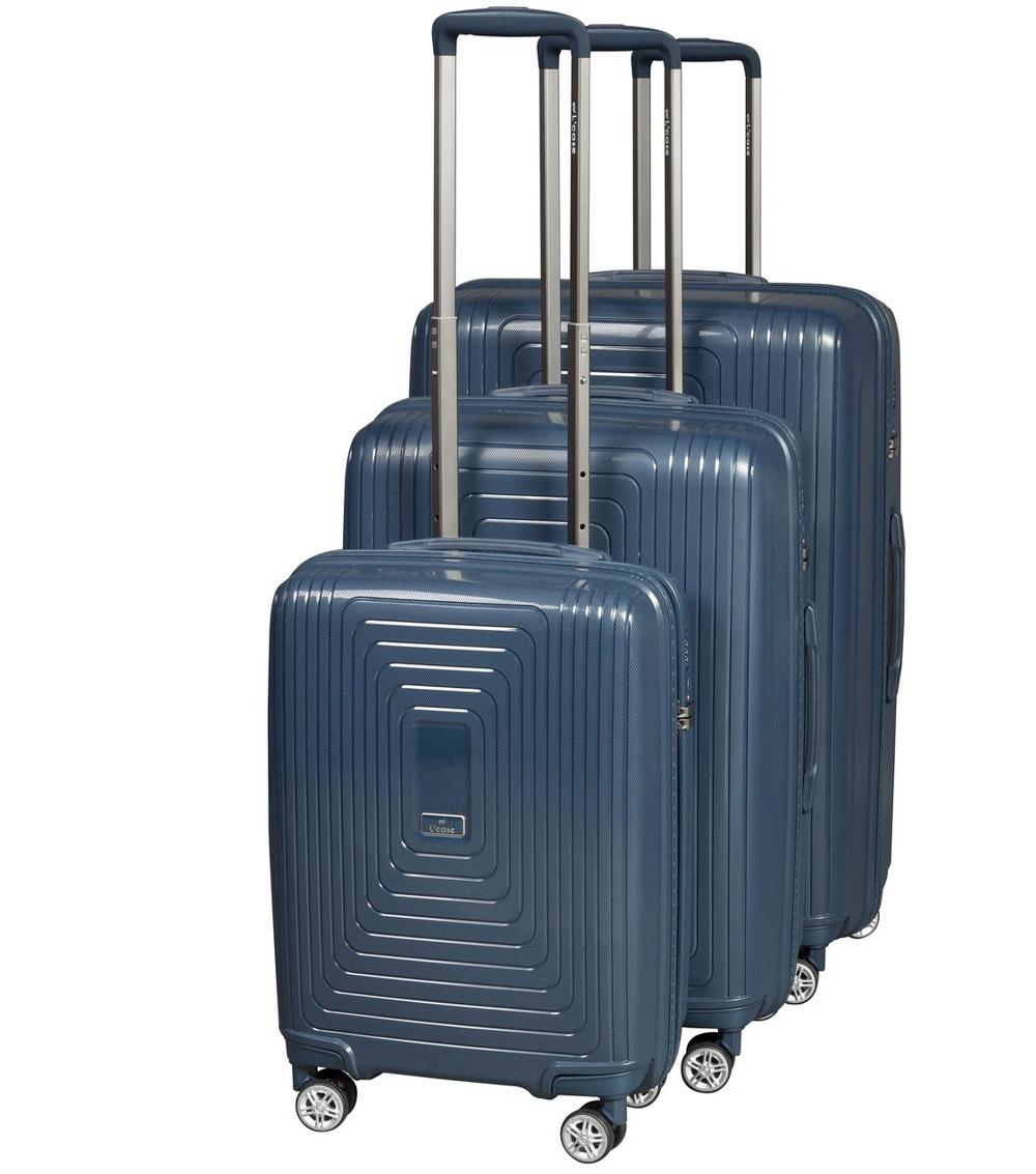 Большой чемодан L-case Moscow blue