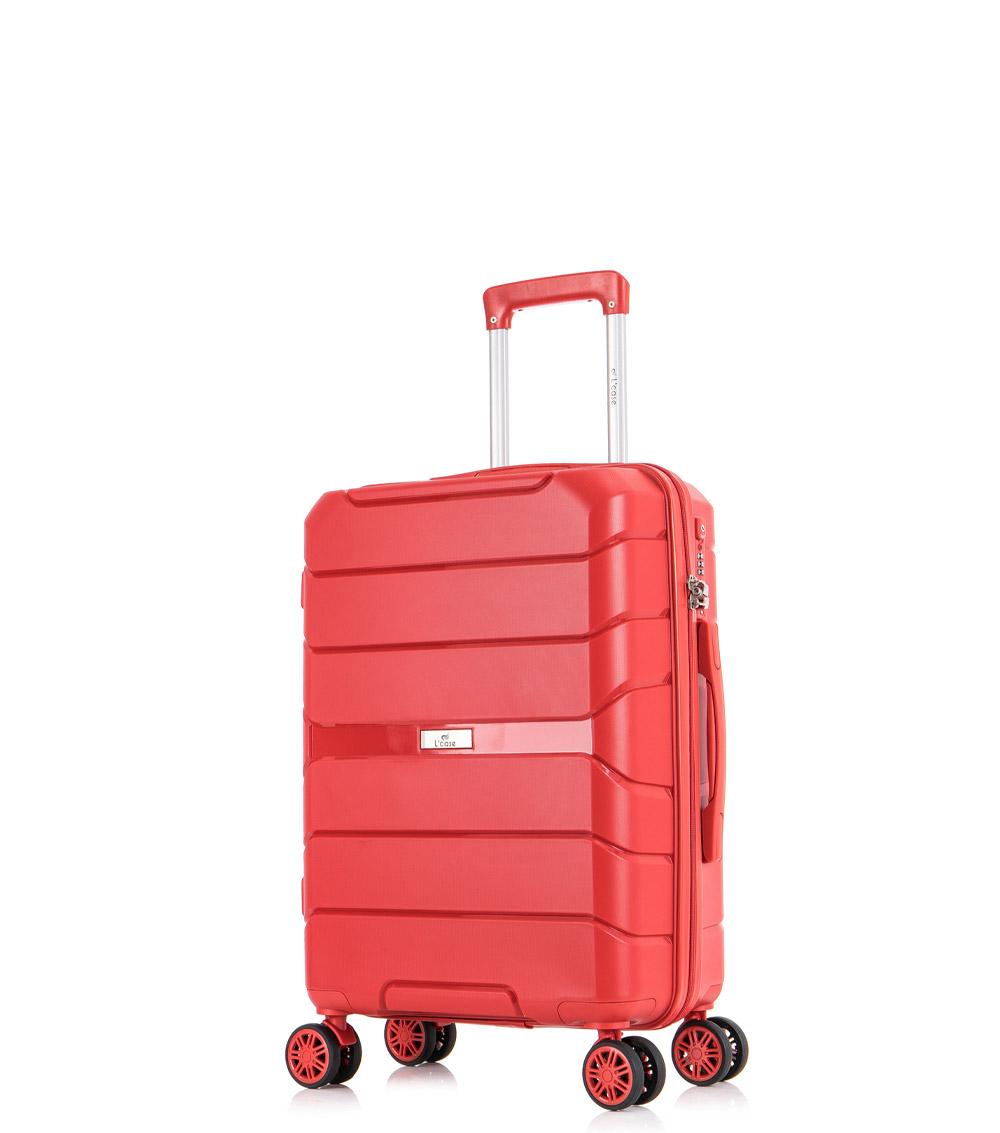 Малый чемодан спиннер L-case Singapore red (57 см)