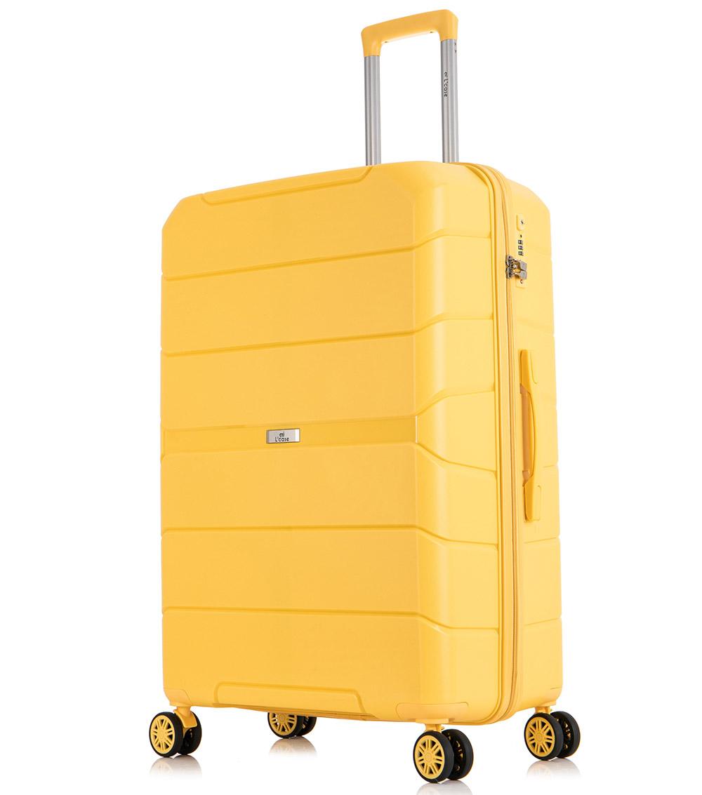 Большой чемодан спиннер L-case Singapore yellow (78 см)