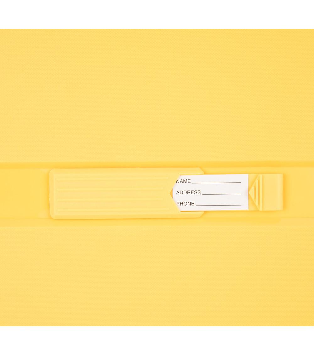 Малый чемодан спиннер L-case Singapore yellow (57 см)