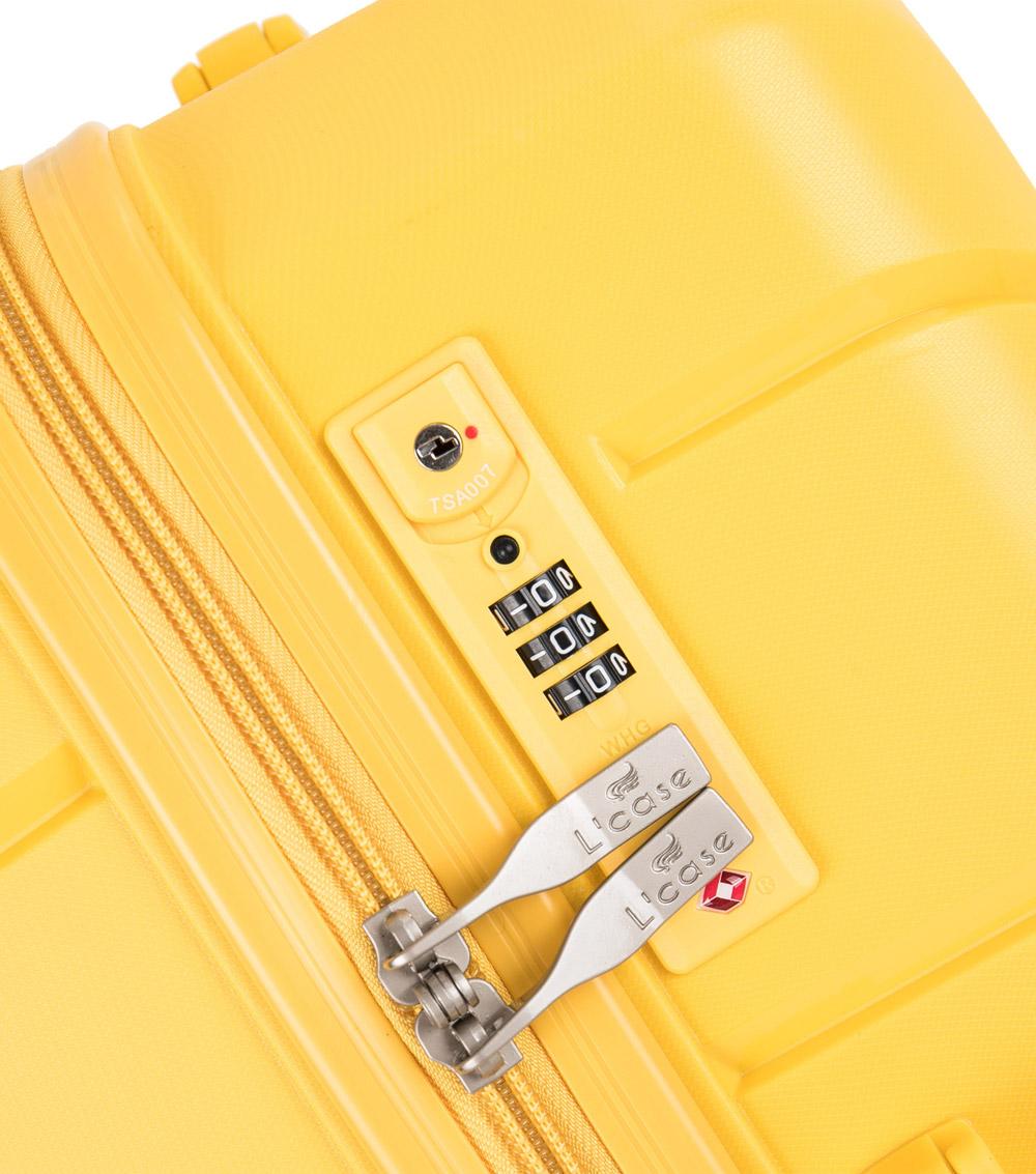 Большой чемодан спиннер L-case Singapore red (78 см)