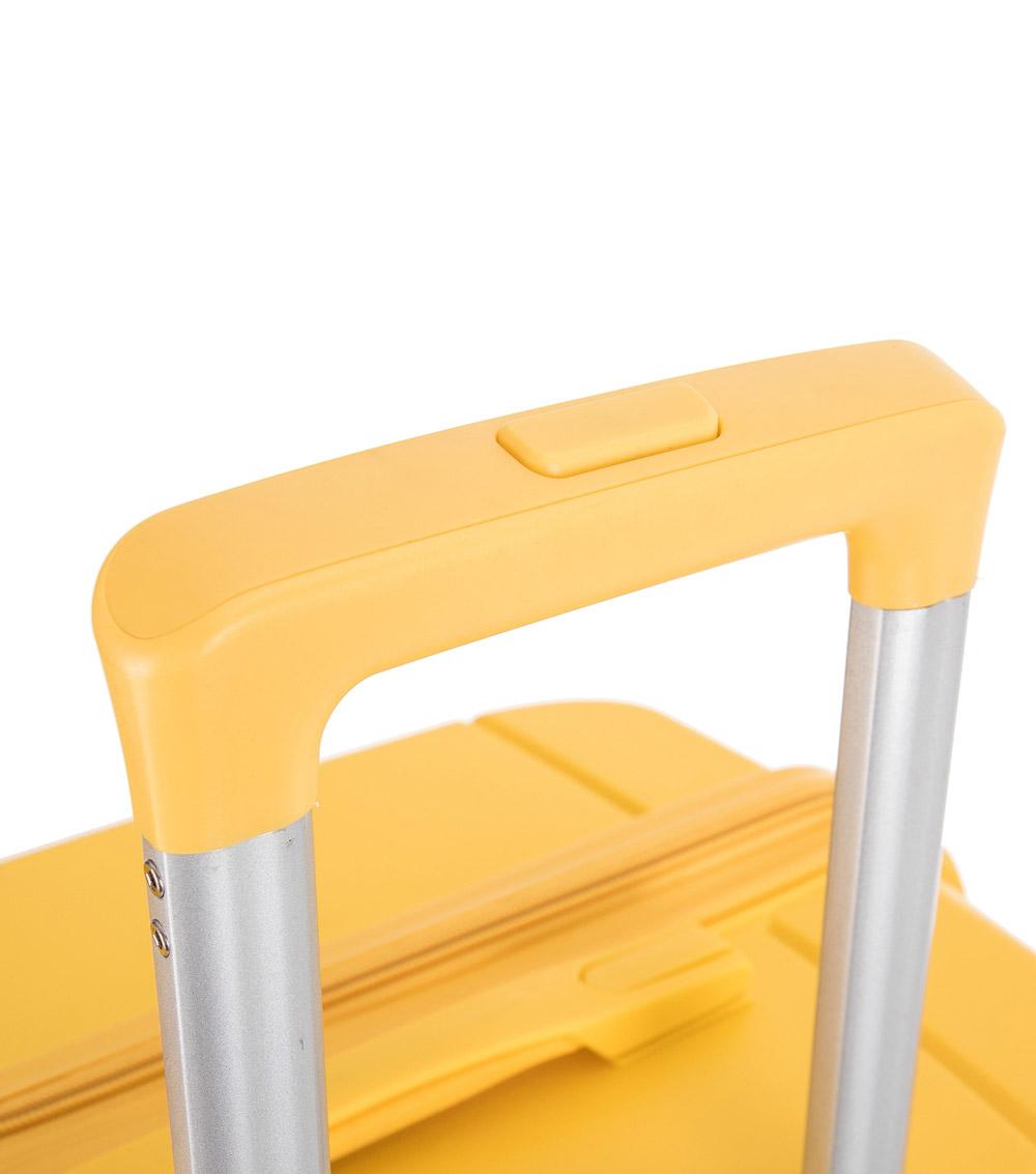 Средний чемодан спиннер L-case Singapore yellow (68 см)