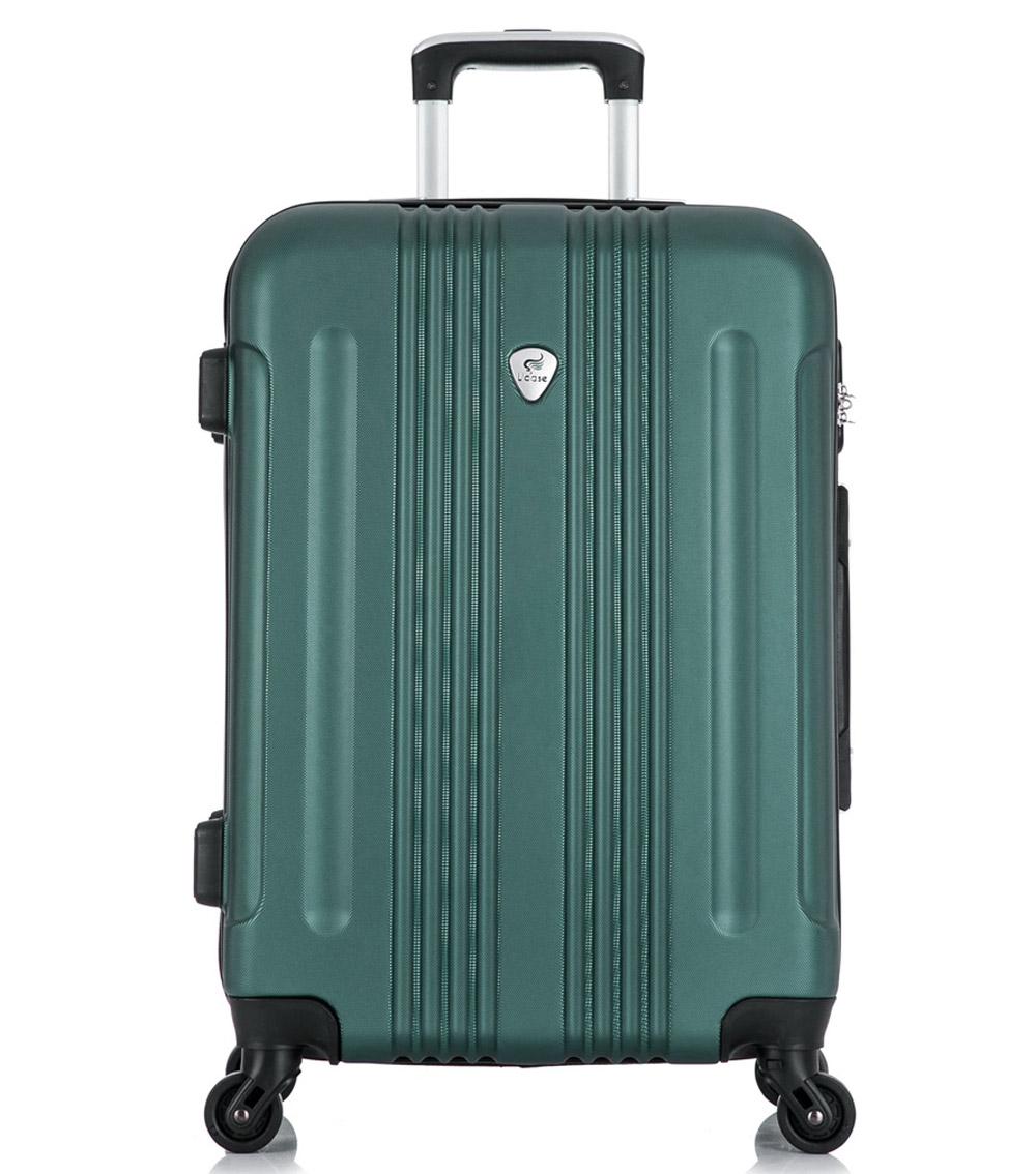 Большой чемодан спиннер L-case Bangkok dark-green (72 см)