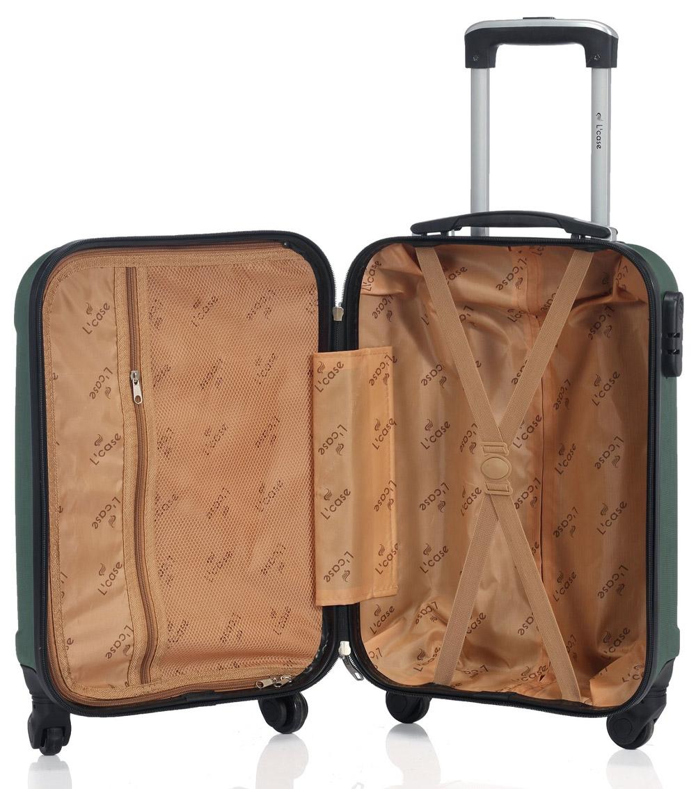 Малый чемодан спиннер L-case Bangkok dark-green (55 см ~ручная кладь~)