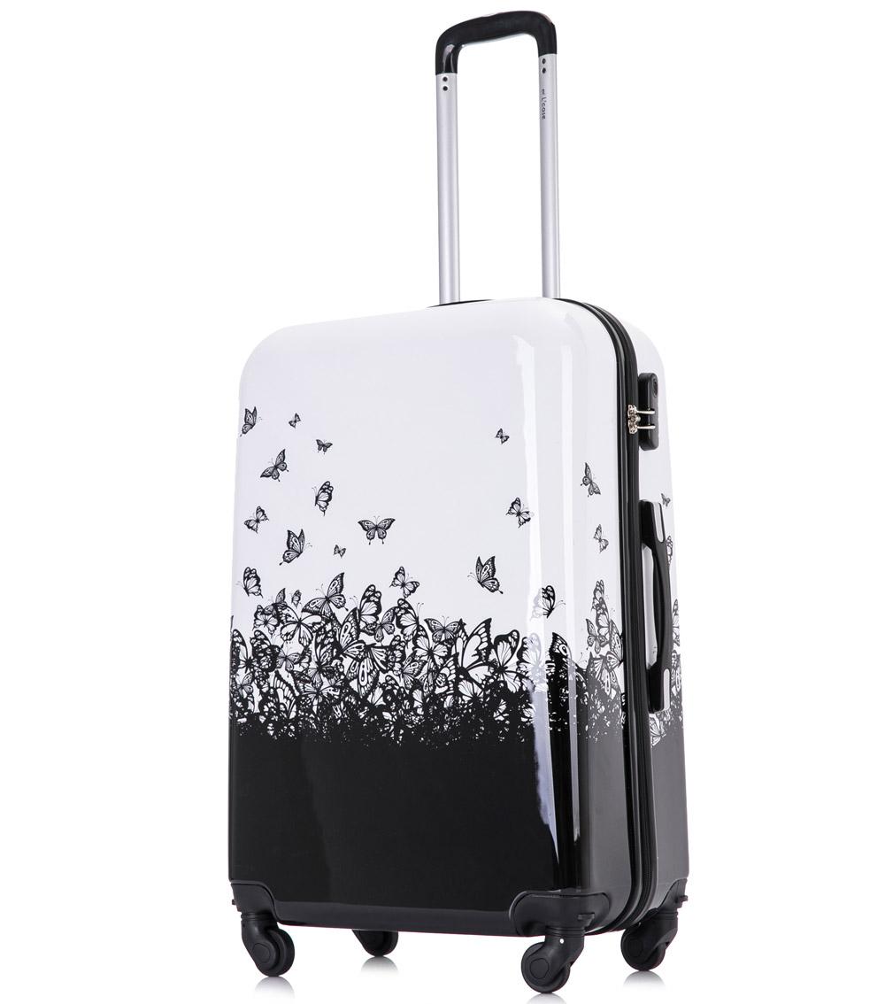 Большой чемодан L-case Butterfly (72 см)