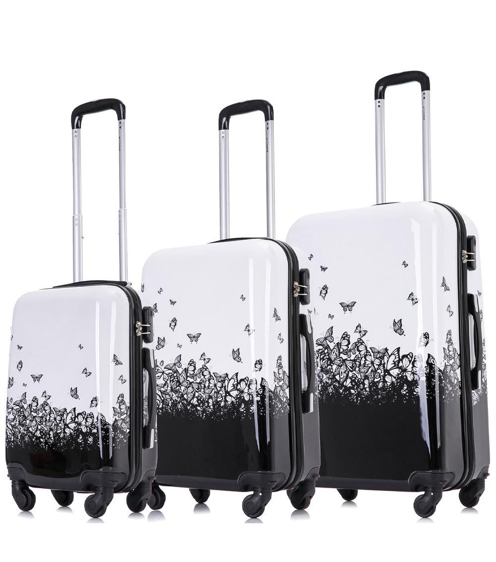Малый чемодан L-case Butterfly (52 см)
