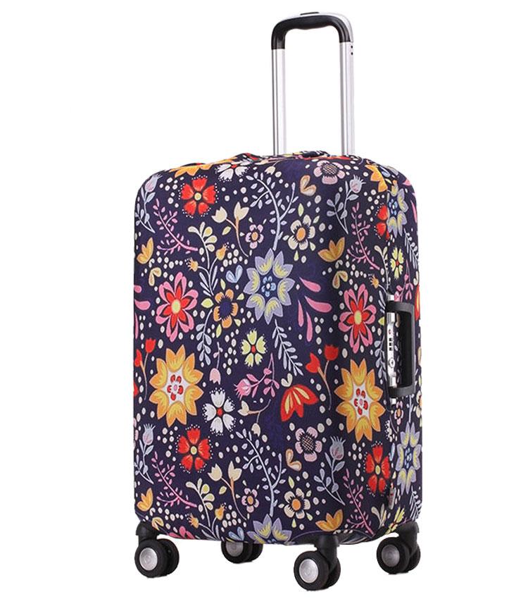 Чехол на чемодан Little Chili Flower pattern ~L~ (62–76 см)
