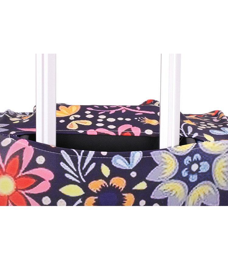Чехол на чемодан Little Chili White flowers ~S~ (48–56 см)
