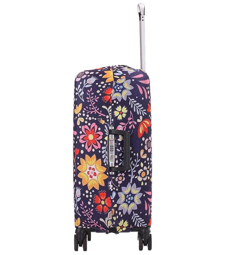 Чехол на чемодан Little Chili Flower pattern ~M~ (55–67 см)