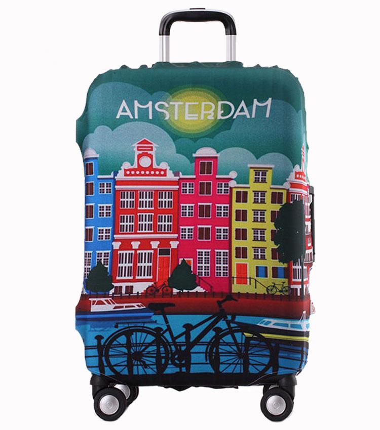 Чехол на чемодан Little Chili Amsterdam ~L~ (62–76 см)