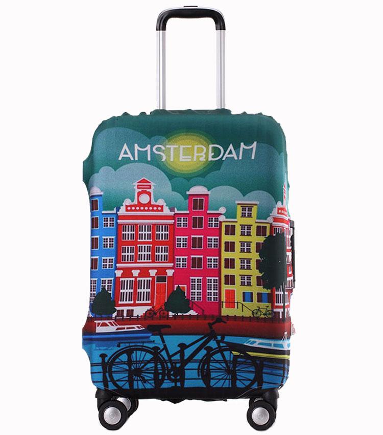 Чехол на чемодан Little Chili Amsterdam ~M~ (55–67 см)