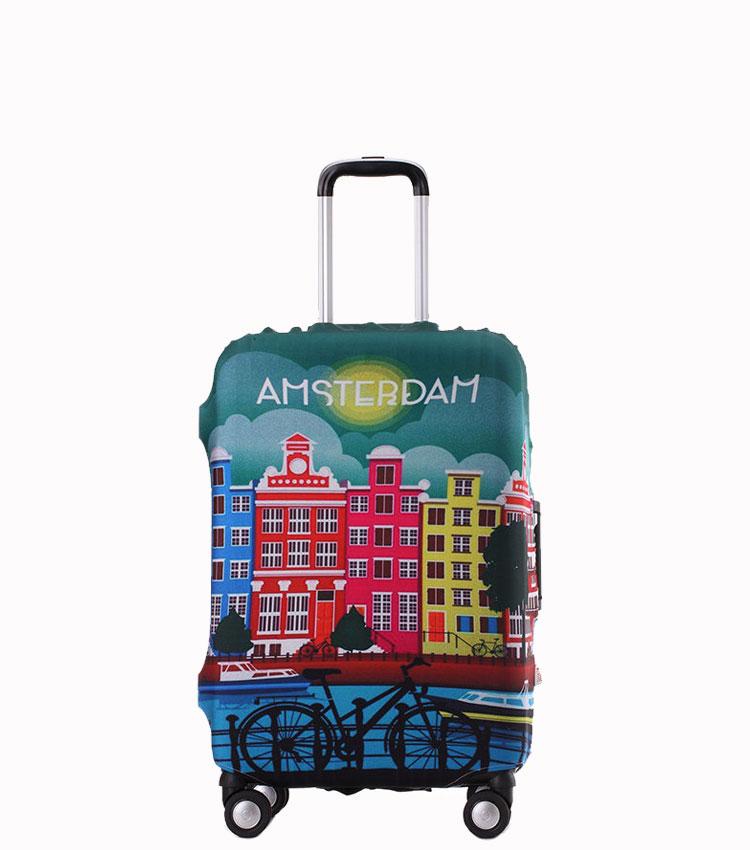 Чехол на чемодан Little Chili Amsterdam ~S~ (48–56 см)