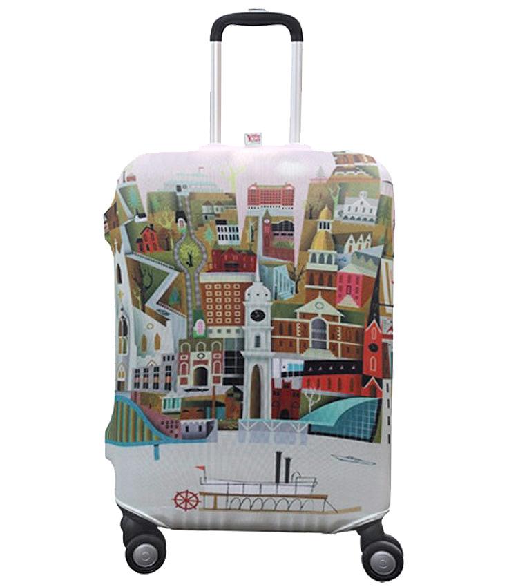 Чехол на чемодан Little Chili Big City ~M~ (55–67 см)