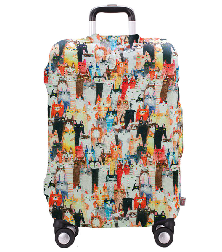 Чехол на чемодан Little Chili Cats ~L~ (62–76 см)