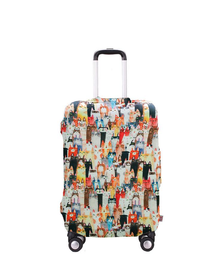Чехол на чемодан Little Chili Cats ~S~ (48–56 см)