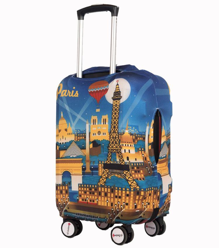 Чехол на чемодан Little Chili Paris ~L~ (62–76 см)