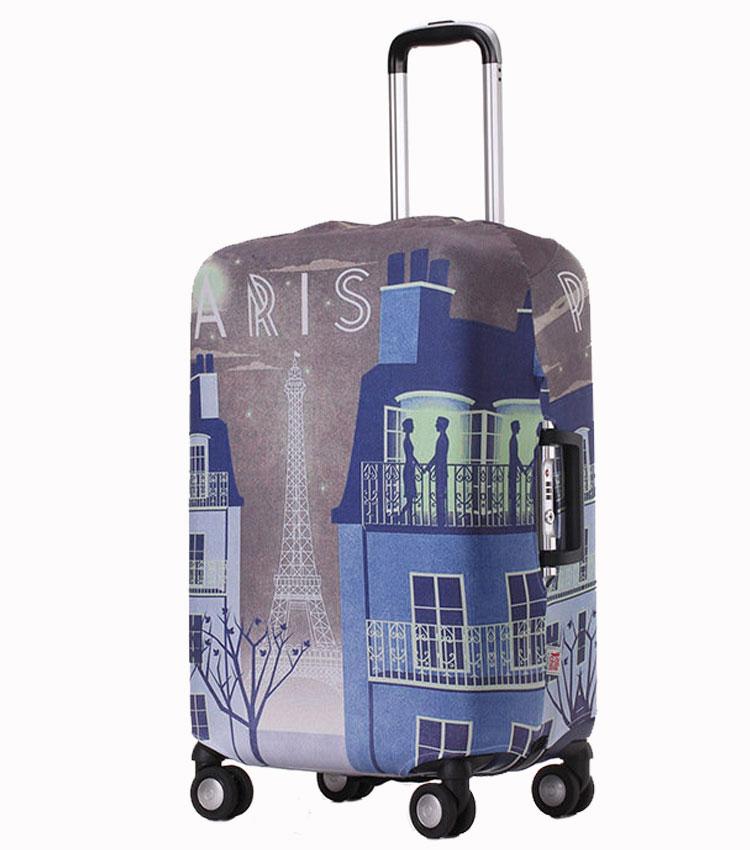 Чехол на чемодан Little Chili Paris-Night ~S~ (48–56 см)