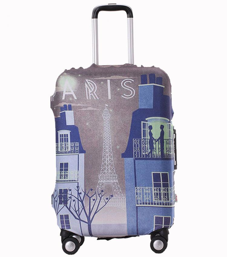 Чехол на чемодан Little Chili Paris-Night ~M~ (55–67 см)