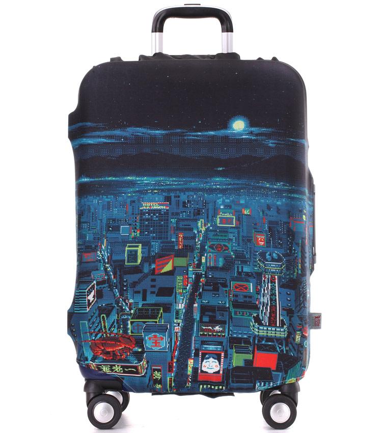 Чехол на чемодан Little Chili Night City ~L~ (62–76 см)