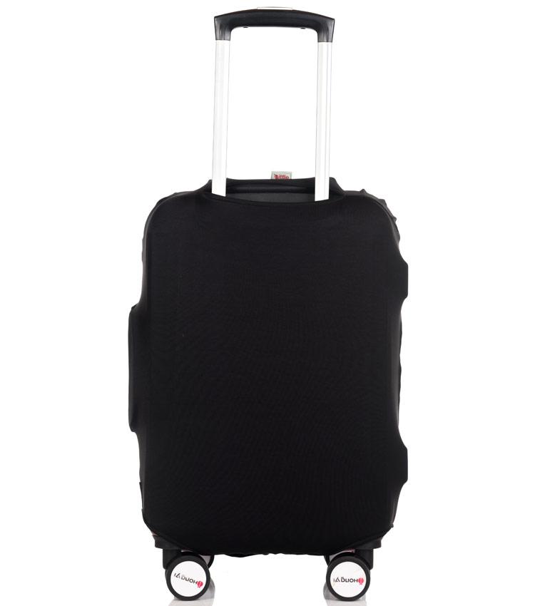 Чехол на чемодан Little Chili I love travel black ~S~ (48–56 см)