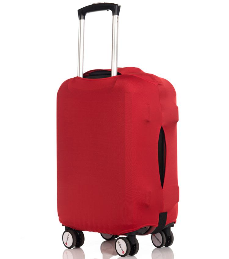 Чехол на чемодан Little Chili I love travel red ~S~ (48–56 см)